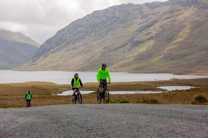 Cycling at Doolough Pass